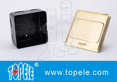 OEM Square Panel Copper / GFCI Receptacles Round Aluminum Aloy POP-up Type Floor Socket